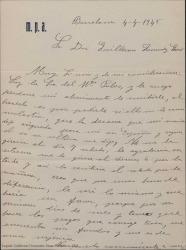 Cartas de Ana Ariño de Palos a Guillermo Fernández-Shaw, pidiéndole le adelante unos días el pago de un dinero, acusando recibo de dicho dinero y agradeciéndoselo.
