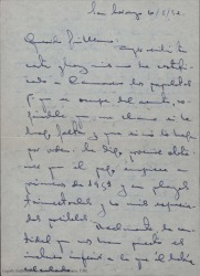 Cartas de Rafael a su hermano Guillermo Fernández-Shaw, hablando de la obra en que están trabajando y dándole noticias familiares.