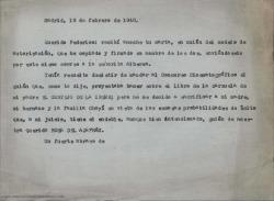 """Carta de Guillermo Fernández-Shaw a Federico Romero diciéndole que ha enviado a Luisa Alberca una carta con la autorización firmada para presentar su guión cinematográfico basado en """"La rosa del azafrán"""" a un concurso."""