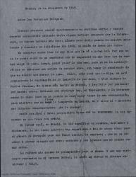 Carta de Guillermo Fernández-Shaw a Francisco Balaguer diciéndole que le avisará cuando haya algo firme, que de momento solo ha habido conversaciones con los empresarios pero no se ha firmado nada. Le comenta el buen balance de la última temporada teatral en Madrid.