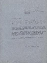 """Copia de carta de Guillermo Fernández-Shaw a Ernesto Pérez Rosillo, dándole las gracias por el interés que demuestra por """"Sol de levante"""" y contándole otras noticias."""