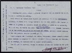 """Correspondencia relacionada con """"Larga historia de la vida breve""""."""