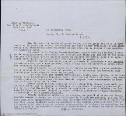 Correspondencia relacionada con la organización del homenaje a Carlos Fernández Shaw en Cádiz, con motivo del centenario de su nacimiento.