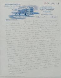 Carta de Federico Romero a Guillermo Fernández-Shaw, citándole en Medina del Campo para ir juntos a Valladolid y mandándole apuntes para una nueva obra.