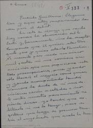 Cartas de Federico Romero a Guillermo Fernández-Shaw y de éste a Enrique Sacki en relación a condiciones, problemas y desacuerdos surgidos con un contrato de participación en un asunto teatral.