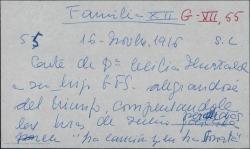 """Carta de Cecilia Iturralde a Guillermo Fernández-Shaw, contenta con el entusiasmo que muestra éste ante el estreno de """"La canción del olvido"""" dándole algún consejo."""
