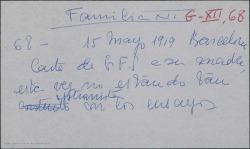 """Carta de Guillermo Fernández-Shaw a Cecilia Iturralde, mostrándose no muy satisfecho de los ensayos de """"La serranilla""""."""