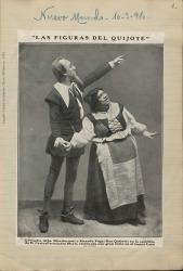 """Cuaderno 21 (1910). Recortes y fotos de """"Las figuras del Quijote"""" y artículos de Carlos Fernández Shaw."""