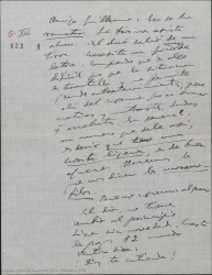 """Carta de Amadeo Vives a Guillermo Fernández-Shaw, hablando de algunos cambios en """"Los flamencos""""."""