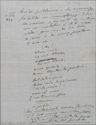 """Carta de Amadeo Vives a Guillermo Fernández-Shaw, mandándole mas material de """"Los flamencos""""."""