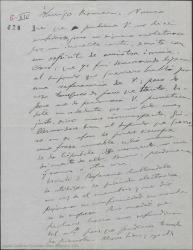 """Carta de Amadeo Vives a Federico Romero, disculpándose si se ha molestado con la carta que le envío en la que le regañaba por crear grandes expectativas sobre """"Los flamencos"""" y contento de poder asistir a una reposición de """"La villana"""" en Madrid."""