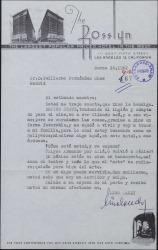 Carta de Lino Landy a Guillermo Fernández-Shaw, hablando de su trabajo en América.