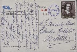 Tarjeta postal de Ernesto Lecuona a Guillermo Fernández-Shaw, comunicando su llegada a Barcelona.