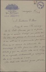 Carta de Antonio Hernández Ballester a Guillermo Fernández-Shaw, diciéndole que Josita Hernán tiene gran interés en leer cierta obra suya.