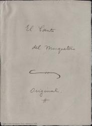 El canto del mosquetero : opereta en un acto dividido en tres cuadros : original y en prosa y en verso / Carlos Fernández Shaw.