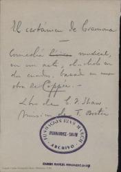 El certamen de Cremona : comedia musical en un acto, dividido en dos cuadros, basada en una obra de Coppée / Carlos Fernández Shaw ; música de Tomás Bretón.