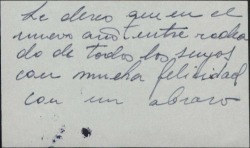 Tarjeta de visita de Pedro Terol felicitando las navidades.