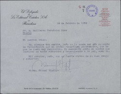 Carta de Manuel Vigil a Guillermo Fernández-Shaw, agradeciéndole su felicitación por la obtención de un premio.