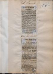 Cuaderno 4 (1897-1899). Estrenos de zarzuelas de Carlos Fernández Shaw.