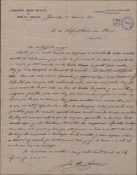 Carta de José María Legaza a Rafael Fernández-Shaw, informándole de las actividades y problemas de su compañía infantil.