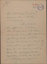 Documento autógrafo, en verso, de Guillermo Fernández-Shaw.