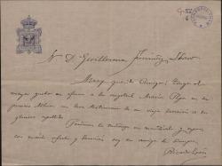 Carta de Ricardo León a Guillermo Fernández-Shaw, enviándole un testimonio para el álbum de su hija María Pepa.