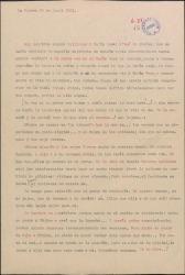 Carta de Enrique López Alarcón a Guillermo Fernández-Shaw, dándole noticias de su vida.