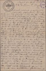 Carta de José García Rufino a Guillermo Fernández-Shaw, contándole sus problemas y solicitando su ayuda económica.