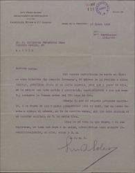 Carta de Luis Pérez Solero a Guillermo Fernández-Shaw, enviándole una obra suya como regalo navideño.