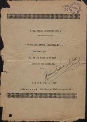 Portadas de libros de apuntes con el autógrafo de Ramón Serrano Suñer.