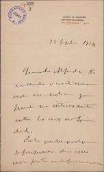 Carta del Marqués de Cortina al Marqués de Valdeiglesias, enviándole una noticia para ser publicada en los ecos de sociedad.