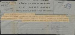 """Telegrama de Luis Calvo y Jose Canals a Federico Romero, sobre la suspensión del estreno de """"La chulapona"""" por la aparición de un suelto insidioso en la prensa."""