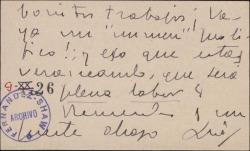 Tarjeta de visita de Luis Calvo Sotelo a Guillermo Fernández-Shaw, agradeciéndole en envío de una de sus obras.