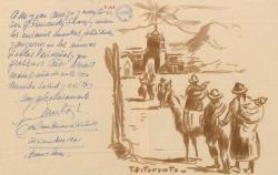 Carta firmada por Mari Carmen Brindesi de Pitaranto y su esposo a Guillermo Fernández-Shaw, con una felicitación navideña desde Buenos Aires.