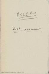 Bolero : comedia en tres actos / de Miguel Durán adaptada a la escena española por Federico Romero y Guillermo Fernández-Shaw.