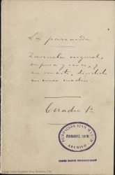La parranda : zarzuela original, en prosa y verso, y en un acto, dividido en cinco cuadros / Carlos Fernández Shaw.