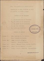 El principe errante (La canción del olvido) : opereta en un acto, dividido en cinco cuadros, en prosa y verso / Guillermo Fernández-Shaw.