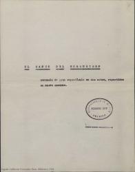 El canto del mosquetero : zarzuela de gran espectáculo en dos actos, repartidos en nueve cuadros / Guillermo y Rafael Fernández-Shaw.