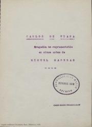 Carlos de Viana : tragedia no representable en cinco actos / de Miquel Saperas, traducción de Guillermo Fernández-Shaw.