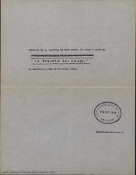 La duquesa del candil : sinopsis / libreto de Guillermo y Rafael Fernández-Shaw, música de Jesús García Leoz.