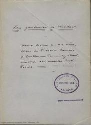 Las gardenias de Windsor : farsa lírica en dos actos / libro de Federico Romero y Guillermo Fernández-Shaw, música del maestro José Forns.