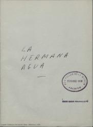 La hermana agua : zarzuela en dos actos con un prólogo lírico / Guillermo Fernández-Shaw.