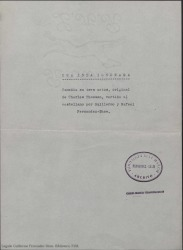 Una isla ignorada : comedia en tres actos / original de Charles Thomson, vertido al castellano por Guillermo y Rafael Fernández-Shaw.