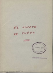 """De """"El jinete de fuego"""" / Guillermo Fernández-Shaw."""