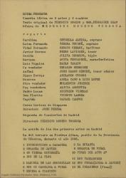 Luisa Fernanda : comedia lírica en tres actos y tres cuadros / texto original de Federico Romero y Guillermo Fernández-Shaw, música de Federico Moreno Torroba.