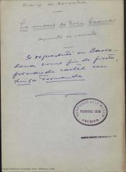 La mano de Doña Leonor : apunte de sainete / Guillermo Fernández-Shaw y Federico Romero.