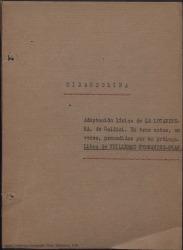 """Mirandolina : adaptación lírica de """"La locandiera"""" de Carlos Goldini. En tres actos, en verso, precedidos por un prólogo / libro de Guillermo Fernández-Shaw."""