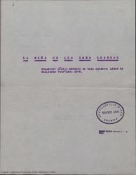 La niña de los tres luceros : comedieta lírica moderna en tres cuadros / libro de Guillermo Fernández-Shaw.