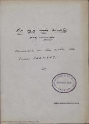 Los ojos más bonitos del mundo : comedia en tres actos / de Jean Sarment, traducida por Guillermo Fernández-Shaw.