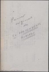 El pretendiente burlado : ópera cómica en tres actos basada en una comedia de Molière / Guillermo Fernández-Shaw.